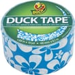 Duck Tape Brand Duct Tape, Blue Surf Flower, 1.88in.x 10 Yards