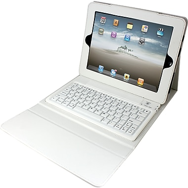 2COOL Portfolio with Bluetooth Keyboard, White