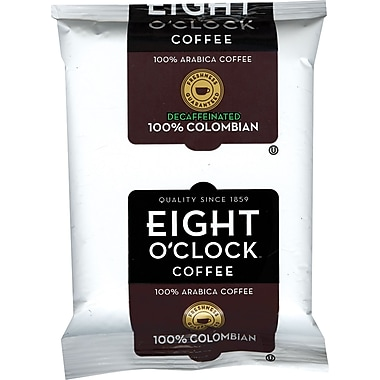 Eight O'Clock® 100% Colombian Ground Coffee, Decaffeinated, 2 oz., 42 Packets