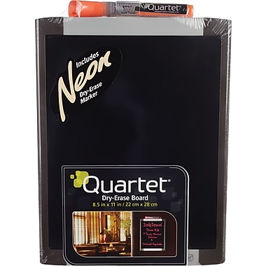 Quartet Black Dry Erase Board, 8.5in. x 11in.
