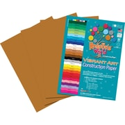 "Roselle Vibrant Art Construction Paper, 9"" x 12"", Light Brown, 50 Sheets"