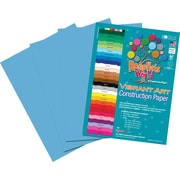 Roselle Vibrant Art Construction Paper, 9 x 12, Turquoise, 50 Sheets