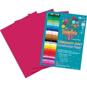 Roselle Vibrant Art Construction Paper, 9 x 12, Scarlet, 50 Sheets