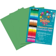 Roselle Vibrant Art Construction Paper, 9 x 12, Emerald Green, 50 Sheets