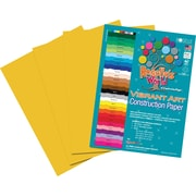 "Roselle Vibrant Art Construction Paper, 9"" x 12"", Yellow Orange, 50 Sheets"