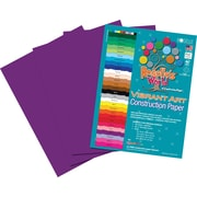 Roselle Vibrant Art Construction Paper, 9 x 12, Violet, 50 Sheets