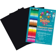 Roselle Vibrant Art Construction Paper, 9 x 12, Black, 50 Sheets