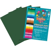 Roselle Vibrant Art Construction Paper, 9 x 12, Dark Green, 50 Sheets