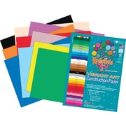Roselle Vibrant Art Heavyweight Construction Paper, 76 lb., Assorted, 24 x 36, 50/Pack