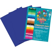 Roselle Vibrant Art Construction Paper, 12 x 18, Dark Blue, 50 Sheets