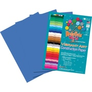 Roselle Vibrant Art Construction Paper, 12 x 18, Bright Blue, 50 Sheets