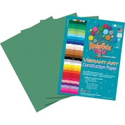 Roselle Vibrant Art Construction Paper, 12 x 18, Holiday Green, 50 Sheets
