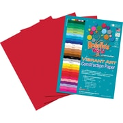 "Roselle Vibrant Art Construction Paper, 12"" x 18"", Holiday Red, 50 Sheets"