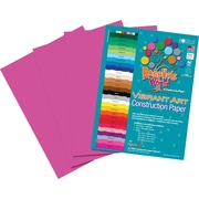 "Roselle Vibrant Art Construction Paper, 12"" x 18"", Hot Pink, 50 Sheets"