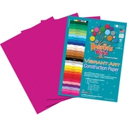 "Roselle Vibrant Art Construction Paper, 12"" x 18"", Magenta, 50 Sheets"