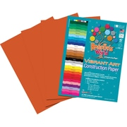 Roselle Vibrant Art Construction Paper, 12 x 18, Orange, 50 Sheets