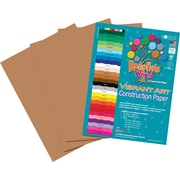 Roselle Vibrant Art Construction Paper, 12 x 18, Brown, 50 Sheets