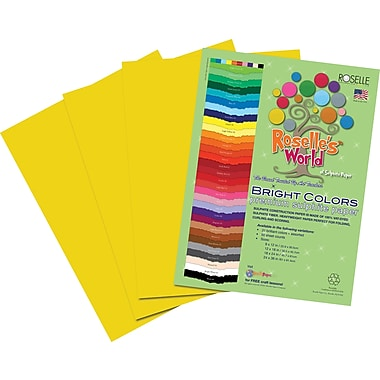 Roselle Bright Colors Sulfite Construction Paper, 9in. x 12in., Gold, 50 Sheets