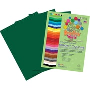 Roselle Bright Colors Sulfite Construction Paper, 9 x 12, Dark Green, 50 Sheets