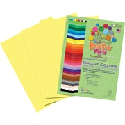 Roselle Bright Colors Sulfite Construction Paper, 9 x 12, Light Yellow, 50 Sheets