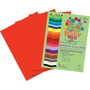Roselle Bright Colors Sulfite Construction Paper, 9 x 12, Red, 50 Sheets