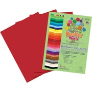 Roselle Bright Colors Sulfite Construction Paper, 9 x 12, Festive Red, 50 Sheets