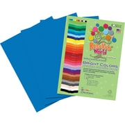 Roselle Bright Colors Sulfite Construction Paper, 9 x 12, Blue, 50 Sheets