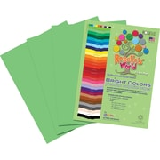 Roselle Bright Colors Sulfite Construction Paper, 9 x 12, Lime Yellow, 50 Sheets