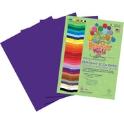 Roselle Bright Colors Sulfite Construction Paper, 12 x 18, Violet, 50 Sheets