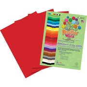 Roselle Bright Colors Sulfite Construction Paper, 12 x 18, Holiday Red, 50 Sheets