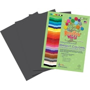 Roselle Bright Colors Sulfite Construction Paper, 12 x 18, Gray, 50 Sheets