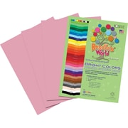 Roselle Bright Colors Sulfite  Construction Paper, 12 x 18, Pink, 50 Sheets