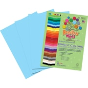 Roselle Bright Colors Sulfite Construction Paper, 12 x 18, Sky Blue, 50 Sheets