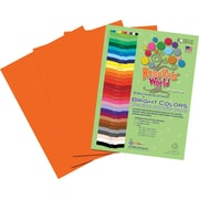 Roselle Bright Colors Sulfite Construction Paper, 12 x 18, Orange, 50 Sheets