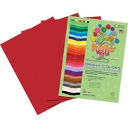Roselle Bright Colors Sulfite Construction Paper, 12 x 18, scarlet, 50 Sheets