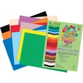 Roselle Bright Colors Sulphite Construction Paper, 76 lb., Assorted, 24in. x 36in. 50/Pack