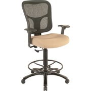 Tempur-Pedic® TP8200 Ergonomic Fabric Mid-Back Drafting Stool, Beige