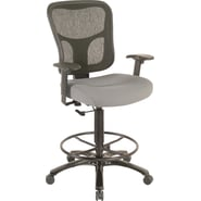 Tempur-Pedic® TP8200 Ergonomic Fabric Mid-Back Drafting Stool, Grey