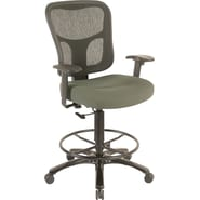Tempur-Pedic® TP8200 Ergonomic Fabric Mid-Back Drafting Stool, Olive