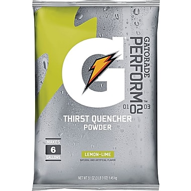 Gatorade® 6 gal Yield Instant Powder Dry Mix Energy Drink, 51 oz Pack, Lemon-Lime