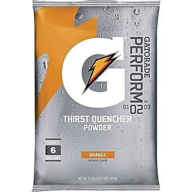 Gatorade® 6 gal Yield Instant Powder Dry Mix Energy Drink, 51 oz Pack, Orange