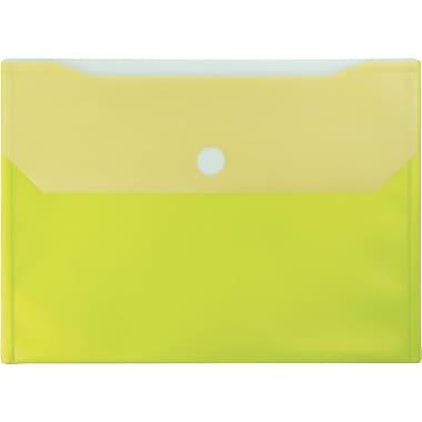 Winnable - Pochettes de classement en poly avec Velcro, jaune, paq./12