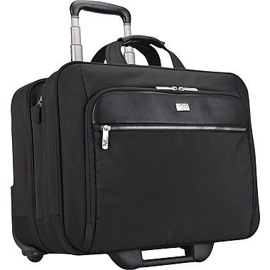 Case Logic 17in. Security Friendly Rolling Laptop Case, Black