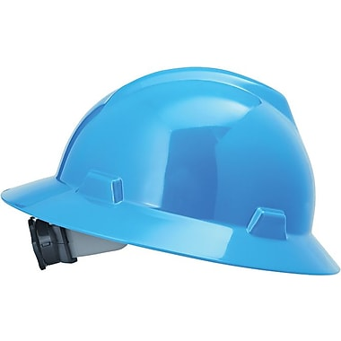 MSA Safety® V-Gard® Non-Slotted Protective Caps and Hats, Polyethylene, Hat, Standard, Blue