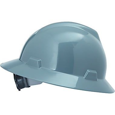 MSA Safety® V-Gard® Non-Slotted Protective Caps and Hats, Polyethylene, Hat, Standard, Gray