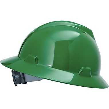 MSA Safety® V-Gard® Non-Slotted Protective Caps and Hats, Polyethylene, Hat, Standard, Green