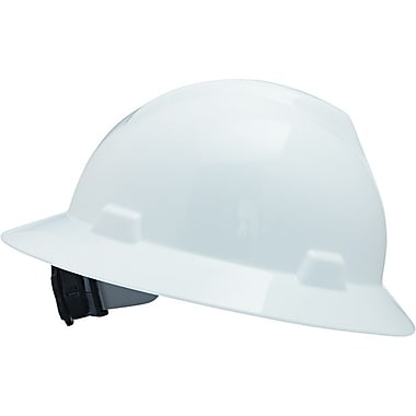 MSA Safety® V-Gard® Non-Slotted Protective Caps and Hats, Polyethylene, Hat, Standard, White