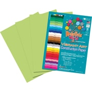 Roselle Vibrant Art Construction Paper, 9 x 12, Bright Green, 50 Sheets