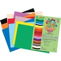 Roselle Vibrant Art Construction Paper, 12in. x 18in., Assorted Colors, 50 Sheets
