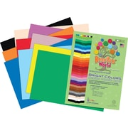 "Roselle Vibrant Art Construction Paper, 12"" x 18"", Assorted Colors, 50 Sheets"